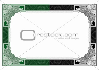 Secure design frame vector