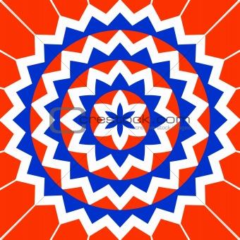 colorful mandala shape