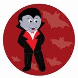 Cartoon cute little vampire