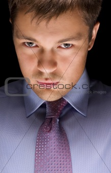 dark businessman portrait