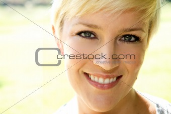 Beautiful Blond Girl With A Pretty Smile