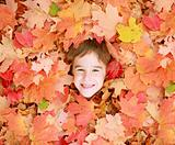Little Boy in Leaves