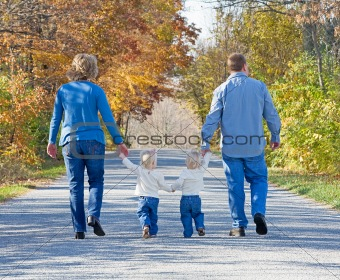 Family Taking a Walk