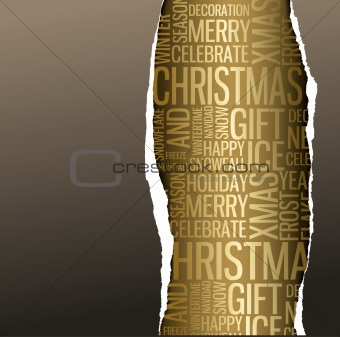 Abstract Christmas card