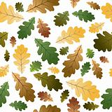Oak leafs seamless pattern