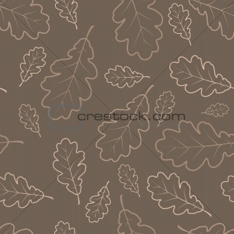 Autumn oak leafs texture