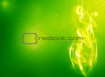 Abstract background with fantasy fire