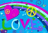 Love Peace and Hearts