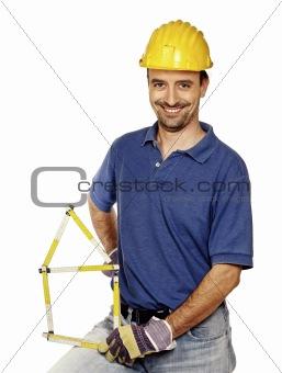 carpenter on white