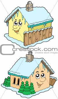 Cartoon winter houses