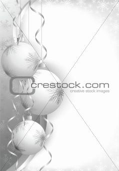 christmas balls grey