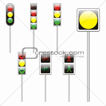 three hundred fully editable vector european traffic signs with details ready to use