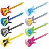 fully editable vector guitar icons with details ready to use