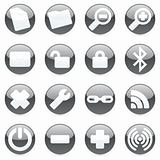 fully editable glossy vector web icons with details ready to use