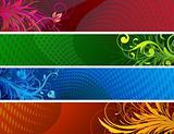 floral Decorative banners