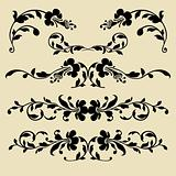 Set of vector baroque borders for design