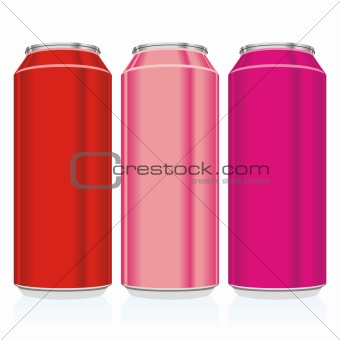 fully editable isolated cans