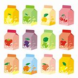 fully editable vector isolated fruit yogurt carton boxes