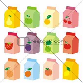 fully editable vector isolated yogurt carton boxes