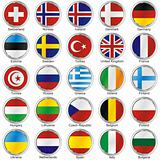 fully editable vector isolated flags