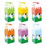 fully editable vector isolated milk carton boxes