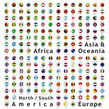 two hundred of fully editable vector world flags