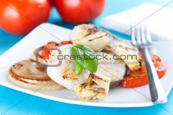 slice of hake grilled