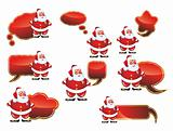 Clouds Santa Labels Set