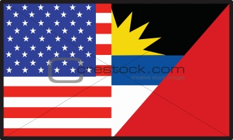 America Antigua Barbuda Flag