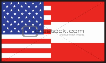 America Austria Flag