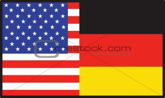 America Germany Flag