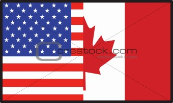 America Canada Flag