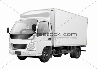 White truck vector