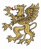 Gold griffin vector