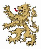 Gold lion vector