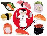 Sushi, vector