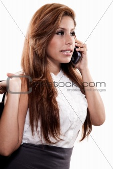 Attractive twenties brunette hispanic business woman