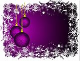 Purple Christmas Grunge Vector Background