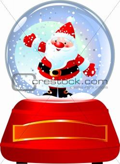 Santa in Snow Globe