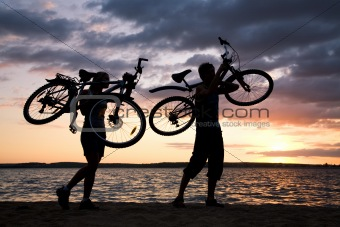 Carrying bikes