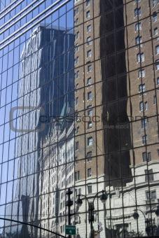 skyscraper reflection