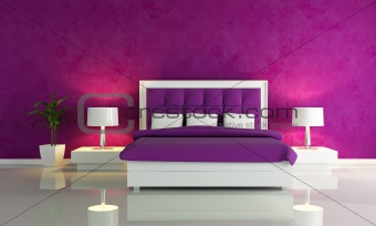 Purple fashion bedroom