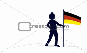 character with a german flag