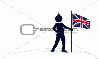character with the Great Britain flag