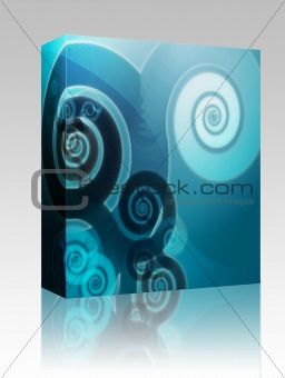 Abstract spiral swirls box package