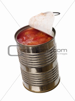 Tin Can with tomatoes