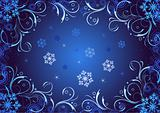 abstract christmas dark blue background