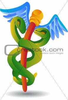 Caduceus Medical Symbol - Cartoon