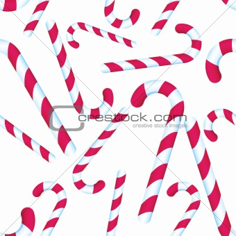 Candy Cane Repeating Pattern