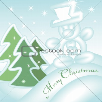 merry christmas greeting card 2